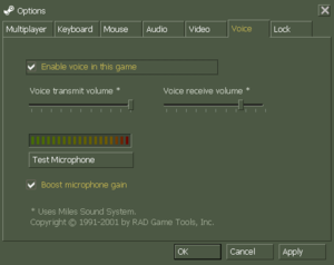 In-game voice settings.