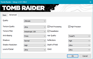 Launcher advanced video settings.