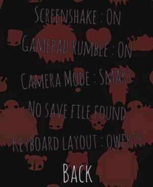 Gameplay options.