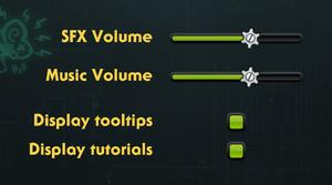 General in-game settings.
