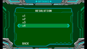 In-game resolution settings.