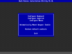 Control options in INSTALL.EXE.