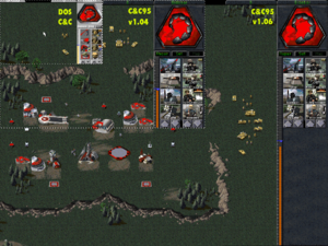 1024x768 resolution with the Command & Conquer Gold: Project 1.06 compared to earlier versions.