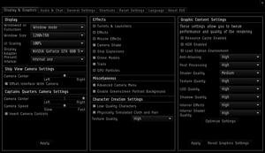 Video settings (August 2013).