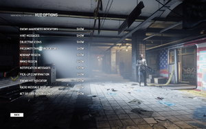 In-game HUD settings