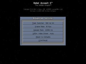 Advanced launcher settings.