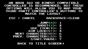 In-game gamepad settings (available for non-XInput compatible controllers only).