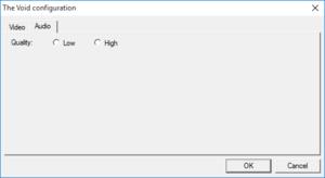 Configuration tool audio settings.