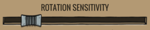 In-game rotation sensitivity setting.