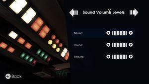 Sound setting.