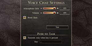 Voice settings.