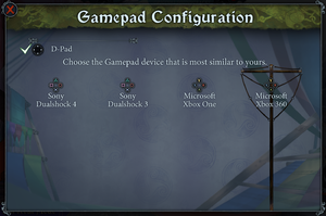 Controller prompt options.