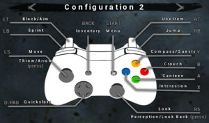 Gamepad configuration 2.