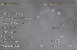 In-game Gameplay Settings