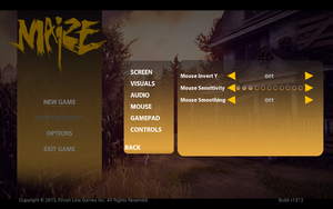 In-game mouse settings
