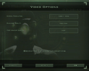 In-game video settings (for Versus Mode).