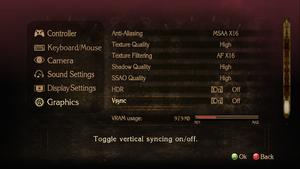 Graphics settings, bottom portion.