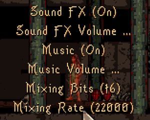 In-game sound options
