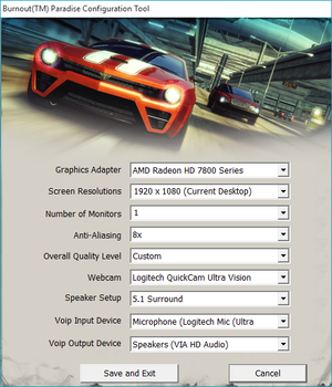 Burnout Paradise - PCGamingWiki PCGW - bugs, fixes, crashes