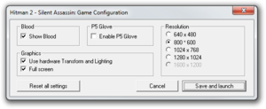 Game's configuration tool.