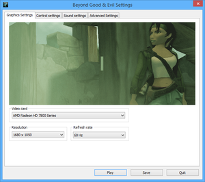External general video settings.