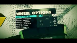 Driving wheel settings.
