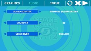 Configuration tools audio tab.
