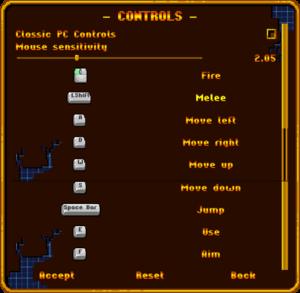 Controls Settings (Keyboard+Mouse)