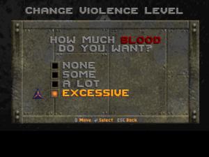 Violence settings.