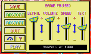 General options (VGA version)
