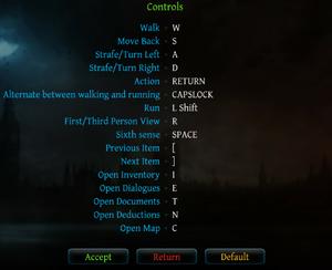 In-game keyboard mapping menu.