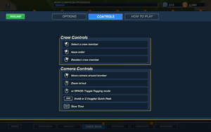 In-game keyboard layout overview.
