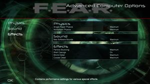 Advanced video card options