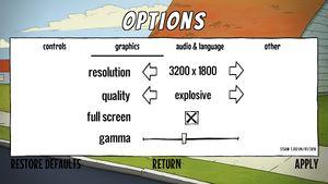 Graphic options