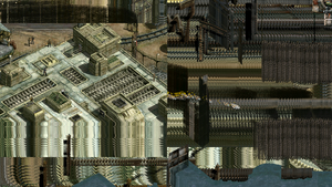 Example of graphical glitch experienced with horizontal resolution of 1920px.