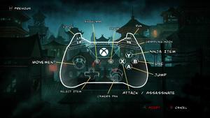 Xbox controller scheme.