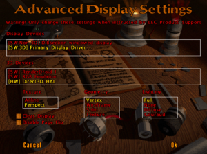 In-game advanced video settings (only accessible via the -displayconfig command line argument).