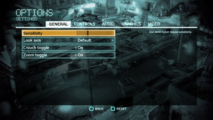 In-game general settings (for multiplayer).